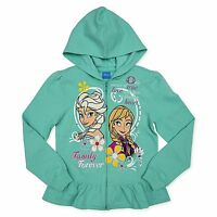 Disney Frozen Frozen Family Forever Little Girls Zip Up Hoodie Mint Green