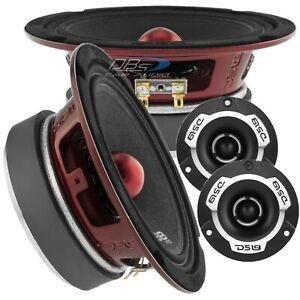 2x DS18 PRO-X6.4BM 6.5″ Midrange Bullet Speakers 2x PRO-TWX1SL Super Tweeter