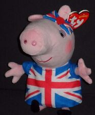 TY UNION JACK PEPPA the PIG - UK EXCLUSIVE - MINT with MINT TAGS