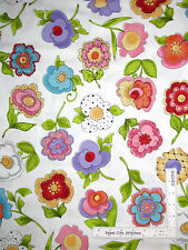 "Loralie Cotton Fabric Blossom Large Flower White Floral Garden 2 Pc (18""&24)"