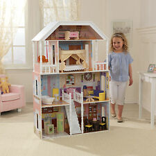 Kidkraft Savannah Dollhouse, Large Wooden Doll Mansion fits Barbie Dolls
