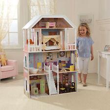 KidKraft maison de poupées Savannah, manoir de poupée en bois Large convient poupées Barbie