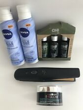 cosmetic kit, nivea for bath, shampoo kit, face cleaning and hair straightener