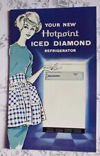 VGC Vintage Booklet - Your New Hotpoint Iced Diamond Refrigerator-1959  envelope