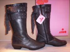 Asso Scarpe Stivali Stivaletti Casual bimba Bambina Tacchi Grigio Shoes Boots 30