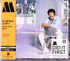 LIONEL RICHIE-CAN'T SLOW DOWN-JAPAN CD Ltd/Ed B63
