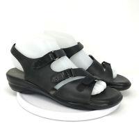 BOC Womens SAS Tripad Comfort Black Leather Slingback Sandals Size 8 M