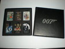 Official James Bond 007 Set of 6 Movie Poster Metal Pin Badges NEW BNIB Gift