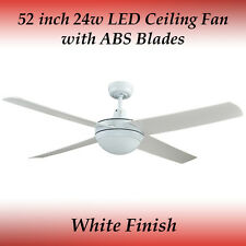 Rotor 52 inch LED Ceiling Fan with Light in White with ABS Blades