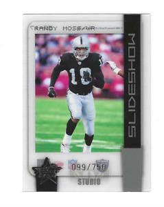 "RANDY MOSS 2005 LEAF ROOKIES & STARS "" SLIDESHOW "" #SS-17 009/750 $20.00 HOF"