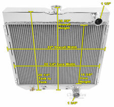 "1963-1969 Ford Fairlane pass/pass Aluminum 3 Row Champion Radiator & 16"" Fan"