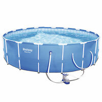 """Bestway Steel Pro 12' x 30"""" Frame Above Ground Pool Set with Filter Pump"""