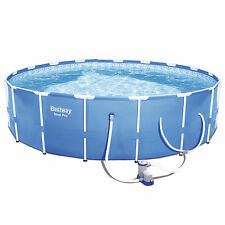"Bestway Steel Pro 12' x 30"" Frame Above Ground Pool Set with Filter Pump"