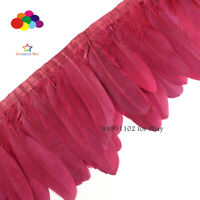 2 meters/lot  Burgundy stained goose feathers Ribbon 15~18 cm duck dance DIY