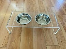 Acrylic Elevated Bowls for Dogs - 2 Stainless Steel Food Container