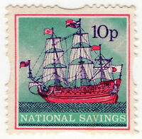 (I.B) Cinderella Collection : National Savings - Galleon 10p