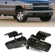 99-02 Chevy Silverado 00-06 Suburban Tahoe Smoke Fog Lights Driving Bumper Lamps