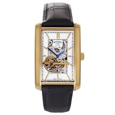 Rotary Mens Les Originales Automatic Skeleton Gold Watch RRP £575