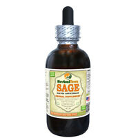 Sage (Salvia Officinalis) Tincture, Organic Dried Leaves Liquid Extract