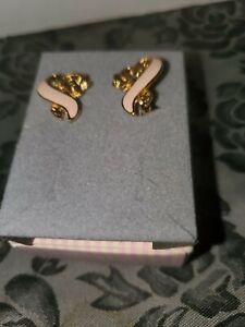 Avon Breast Cancer Pink Ribbon Clip Earrings - NIB