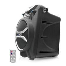NEW Pyle PWMAB210BK 300W Bluetooth Portable Speaker & Recorder w/ Wireless Mic