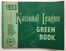 Baseball National League Greenbook 1953 & 1954 American League Redbook 1946