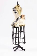 Dollhouse Miniatures ~ Hand Dressed Sewing Mannequin w/ Fabric & Measuring Tape
