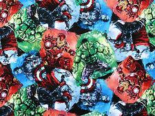 MARVEL AVENGER CHARACTER HEROS COTTON SUPERHEROS SPIDER MAN HULK   FABRIC  YARDS