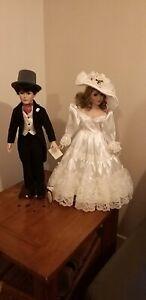 Collectable Alberon Dolls Dominic & Elizabeth Bride & Groom ht 60 cm