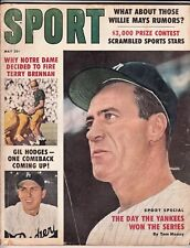 Sport Magazine May 1959 - Hank Bauer Gil Hodges Cover - Willie Mays Article -VG
