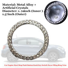Car Decor Bling Ring Trim Tool For Engine Start Stop Push Button Knob Key Switch