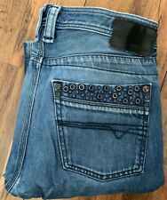 DIESEL Jeans TIMMEN W32 L32 Blue Fade Metal Studded Original Genuine Button Up