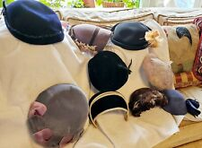 9 Vintage Lot of Women's Hats~ Old!