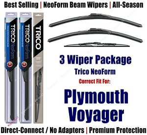 3pk Wipers - NeoForm - 1996-2000 Plymouth Grand Voyager/Voyager - 16280x2/30180
