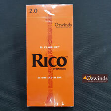 Rico Clarinet Reeds (Box of 25) Strength 2.0 by D'Addario