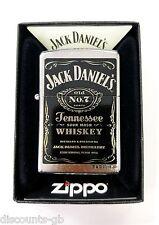 Zippo Jack Daniel's Label Windproof Lighter - Street Chrome - 24779 + Gift Box
