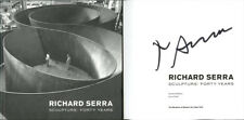 Richard Serra SIGNED AUTOGRAPHED Sculpture Forty Years HC 1st Ed/1st Guggenheim