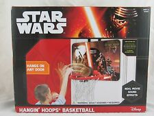 Star Wars Hanging Hoops Basketball with Real Movie Sound Effects, New in Box