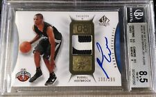 2008-09 SP Authentic Russell Westbrook RC Auto Patch #100/299 BGS 8.5 NM-MT+