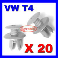 20 X VOLKSWAGEN VW T4 T5 TRANSPORTER INTERIOR TRIM LINING PANEL CLIPS - L GREY