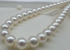 14mm White Sea South Shell Pearl Necklace 18''AAA 100% Real