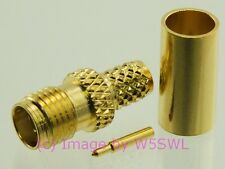Reverse Polarity SMA Female Crimp Connector RG-58 LMR195 2-Pack - by W5SWL ®