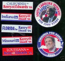 7 State pins John KERRY 2004 John Edwards