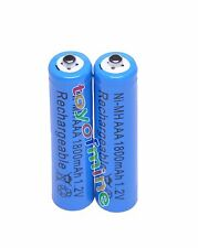 2x AAA 1800mAh 1.2V Ni-MH Rechargeable battery 3A Blue