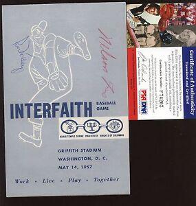 May 14 1957 Interfaith Baseball Program Nelson Nellie Fox Autographed PSA DNA