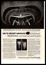 1943 Cine Kodak Movie Camera US Army WWII Wind Tunnel Langley Field VA Print Ad