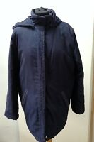 Ladies Marks And Spencer Coat Size UK 14 Navy Detachable Hood