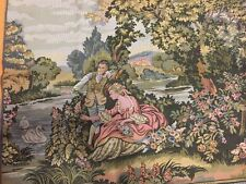 "New European Antique French Pastoral Love tapestry Wall Hanging 83"" x 28"""