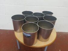 8 x Brabantia Waste Paper Bin 7L Litre Matt Steel Office Room Bin
