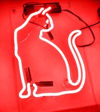 "Neon Lights Neon Glass Red House Dance Club Coffee Decor Artwork SIGN CAT 12""X9"""